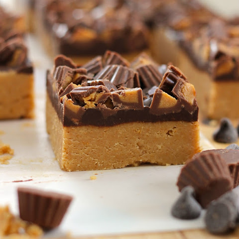 No Bake Peanut Butter Chocolate Bars