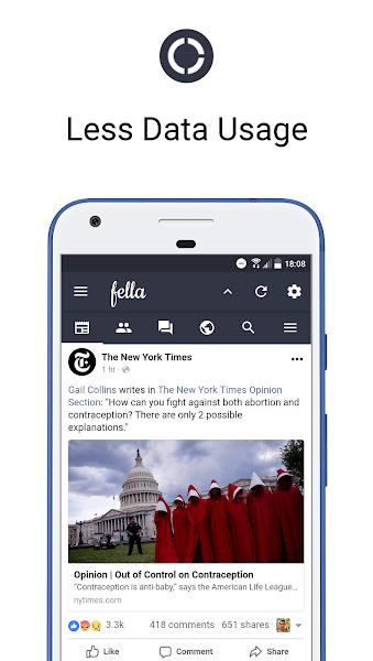 Fella for Facebook- screenshot