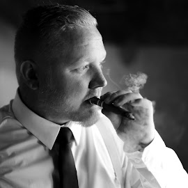 Cigar by Lodewyk W Goosen (LWG Photo) - Wedding Groom ( cigar, wedding photography, wedding, weddings, wedding day, wedding photographer, groom )