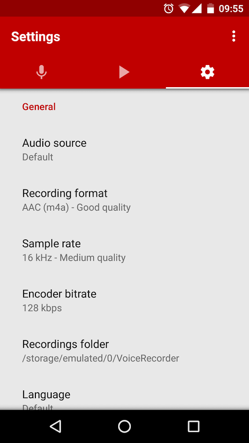 Voice Recorder Screenshot 2