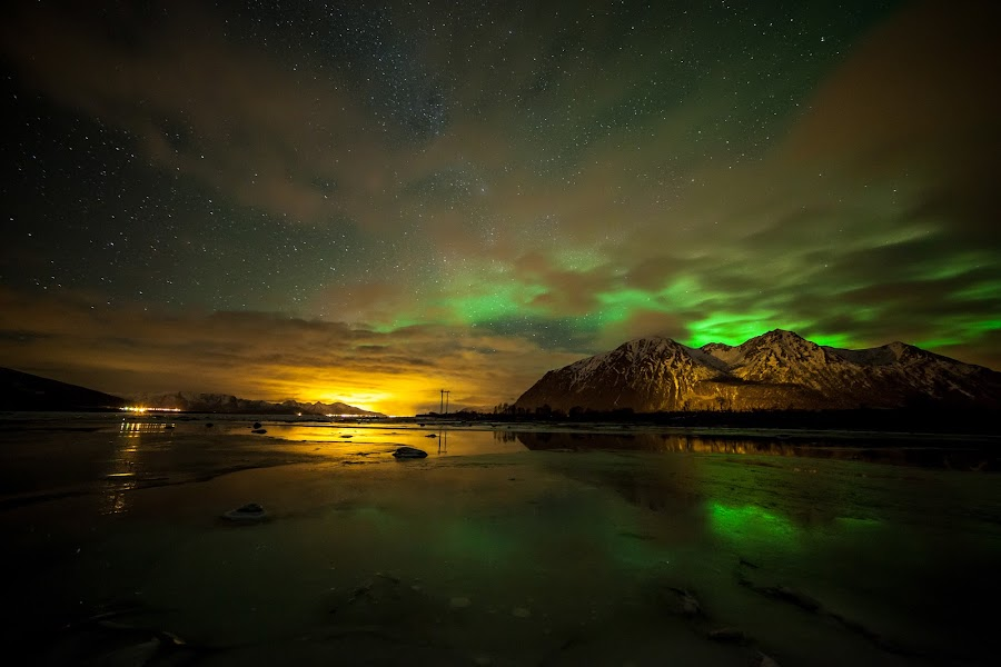 Colourful by Benny Høynes - Landscapes Starscapes ( canon, milkyway, nature, høynes, ice, mk2, aurora, boreoalis, benny, 5d )
