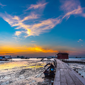Tan Jetty by Lim Keng - Landscapes Cloud Formations