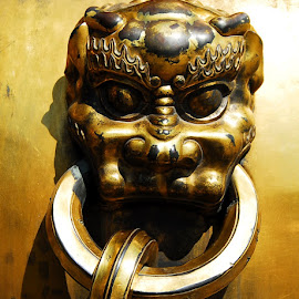 Tiger by Sámuel Zalányi - Artistic Objects Antiques ( bronz, tiger, forbidden city, beijing, medieval, china,  )