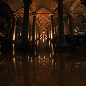Cisterna basilica - Istanbul by Ivana Miletic - Travel Locations Landmarks ( yerebatan, istanbul, ivana miletic, sarayi, basilica, cisterna )