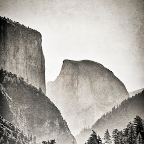 Half Dome by Geoff Ridenour - Landscapes Mountains & Hills ( geoff ridenour, mountain, half dome, yosemite, rock, valley, view )