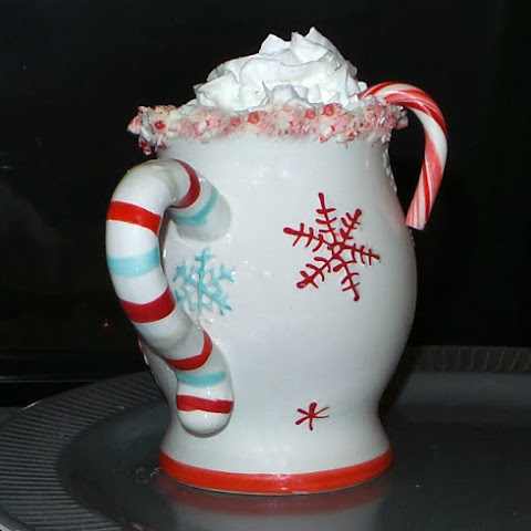 Homemade Hot Chocolate with Frozen Peppermint Whipped Cream Recipe ...