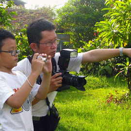 Like father like son, in every way by Philips Onggowidjaja - People Family ( photographers, taking a photo, photographing, photographers taking a photo, snapping a shot )