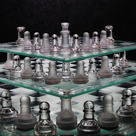 Chess Levels by Peter Salmon - Artistic Objects Glass ( pieces, levels, chess, glass, boards )