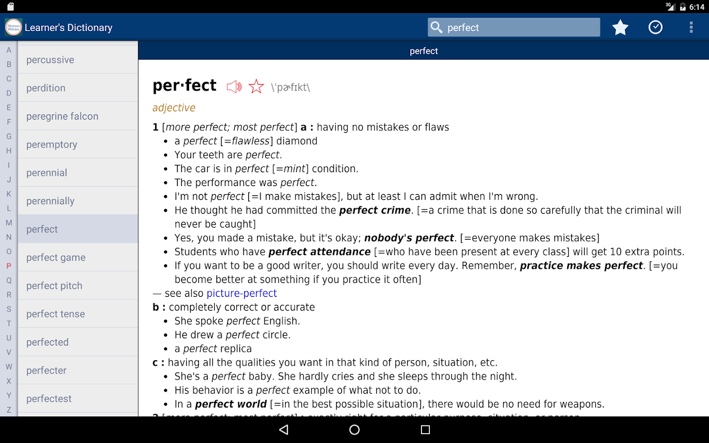 Learner's Dictionary - English Screenshot 6