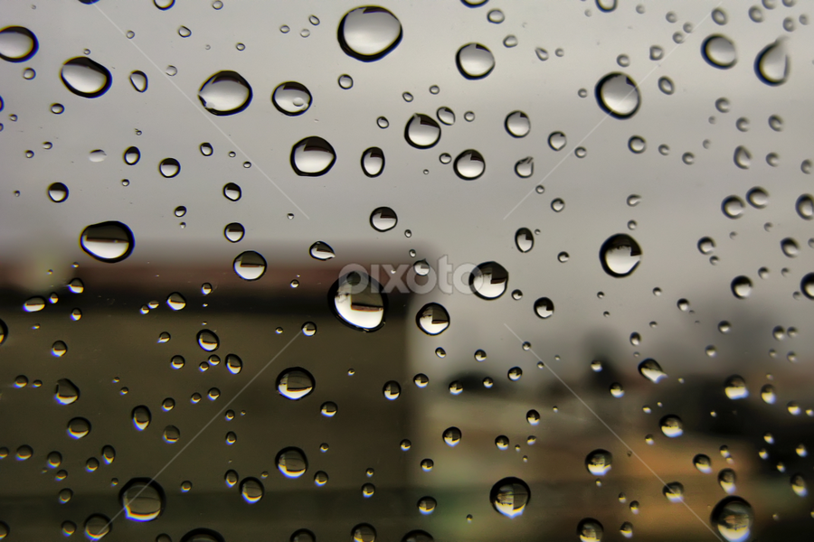 Rain on my window by Daliana Pacuraru - Abstract Water Drops & Splashes ( patterns, pwcabstractdiamonds-dq, daliana pacuraru, window, texture, drops, rain,  )