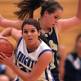 Rebound by Keith Johnston - Sports & Fitness Basketball ( basketball, competing, ball, female, rebound, game, competition )