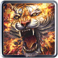 Flame Tiger Live Wallpaper APK for Bluestacks