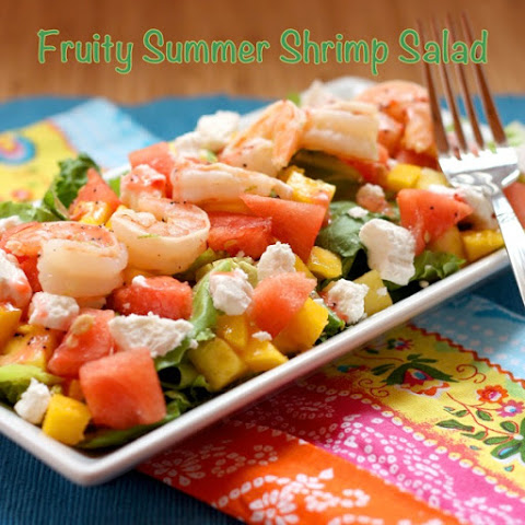 Fruity Summer Shrimp Salad with Strawberry Lime Poppyseed Vinaigrette