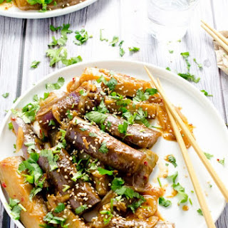 Sweet and Spicy Asian-Style Eggplant