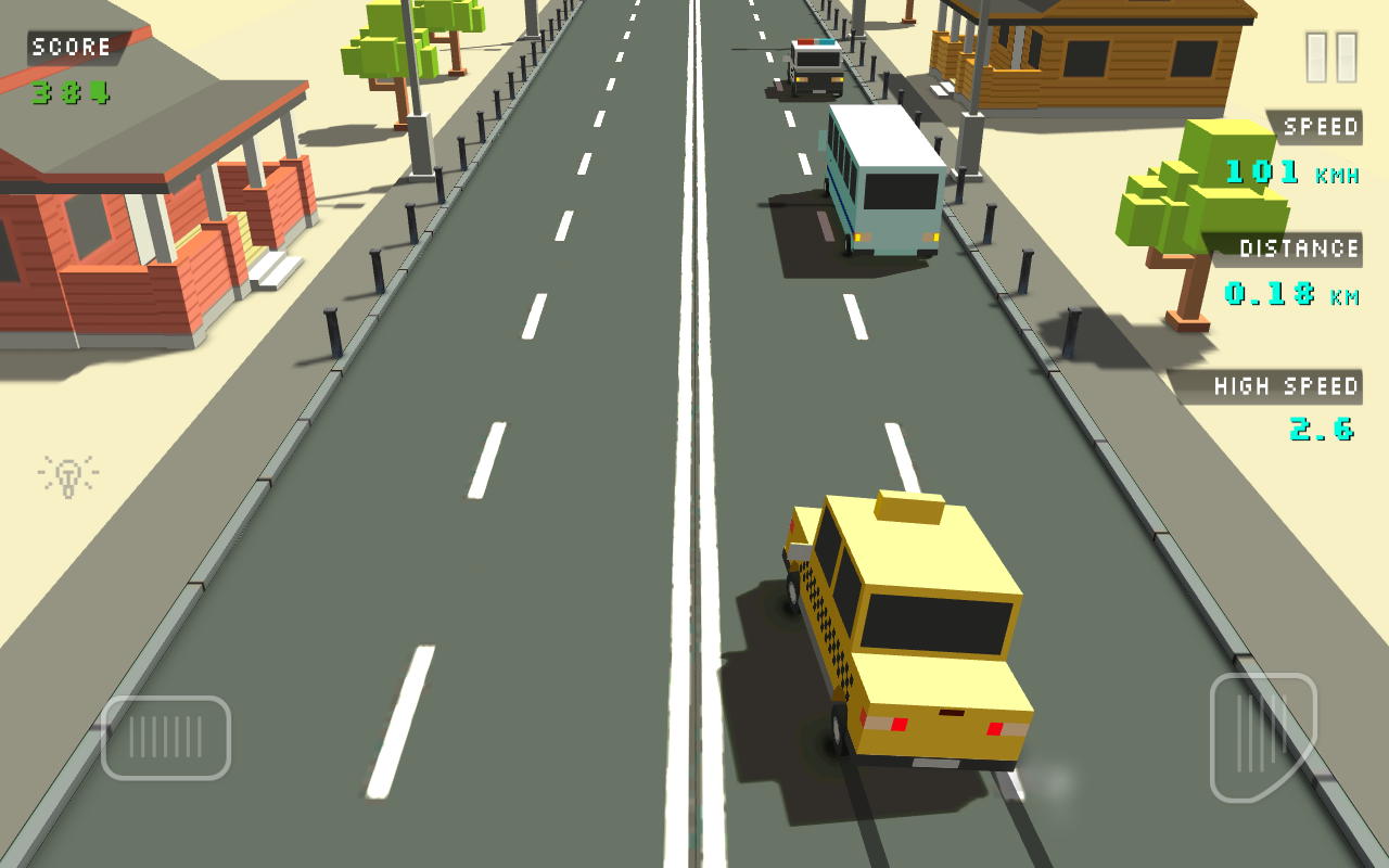 Blocky Traffic Racer Screenshot 4