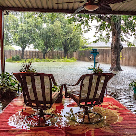 Flooded Patio by Kathy Suttles - Buildings & Architecture Homes