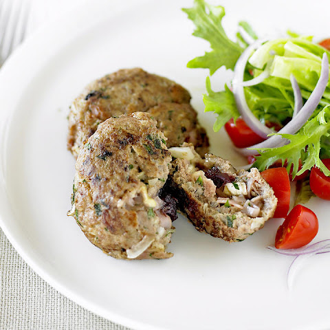 Turkey, Brie and Cranberry Patties
