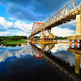 Kahayan Bridge by Niin Peweel - Buildings & Architecture Bridges & Suspended Structures ( bridge, architecture )