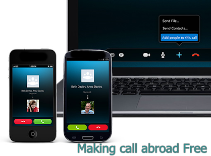 Making call abroad free - screenshot