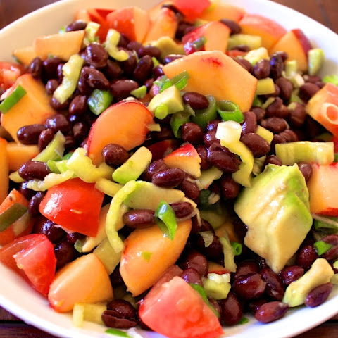 Cold Peach & Black Bean Salad
