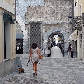 Porta Pretoria, Aosta, Italy by Dražen Komadina - City,  Street & Park  Street Scenes ( aosta, porta pretoria )