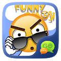 FREE-GO SMS FUNNYEMOJI STICKER APK for Bluestacks