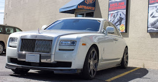 Wheels and tires on a Rolls-Royce Ghost  - Ottawa