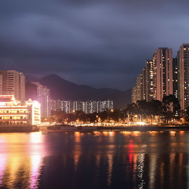 Cityscape by Tritirtha Roy - Buildings & Architecture Homes ( hong kong, home, night lights, nightshot, lakes, nightview, cityscape, landscape, city, night shots, night photography, nighttime, buildings, long exposure, nights, homes, nightlife, cityscapes, building, hongkong, night scene, night time, lake, nightshoot, nightscape, night photo, night view, cities, landscape photography, night, nightography, landscapes, longexposure, night shot, night shoot, nightscapes )