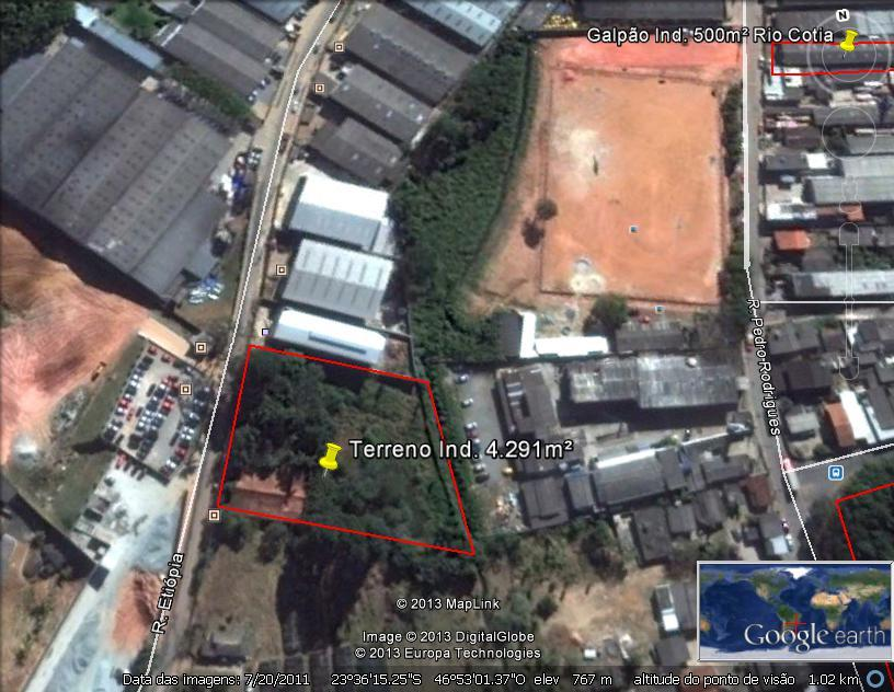 Terreno  industrial à venda, Jardim do Rio Cotia, Cotia.