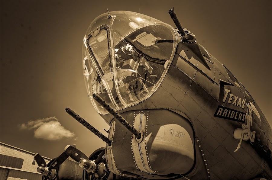B-17 by Ray Ebersole - Transportation Airplanes ( tulsa, texas raiders, b-17, commemorative air force )