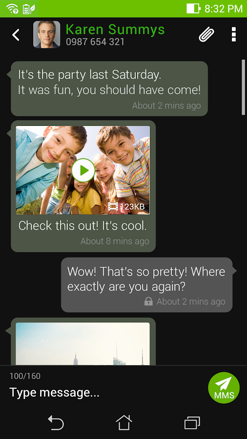 ASUS Messaging - SMS & MMS Screenshot 3