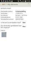 Screenshot of Anderzorg Declaratie-App