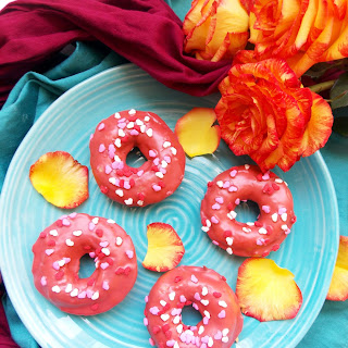 Baked Rose Glazed Donuts