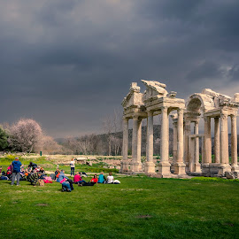 Tetrapylon at Afrodisias by Murat Besbudak - City,  Street & Park  Historic Districts