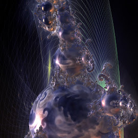 Guarding The Ghosts by Rick Eskridge - Illustration Sci Fi & Fantasy ( fantasy, jwildfire, mb3d, fractal, twisted brush )