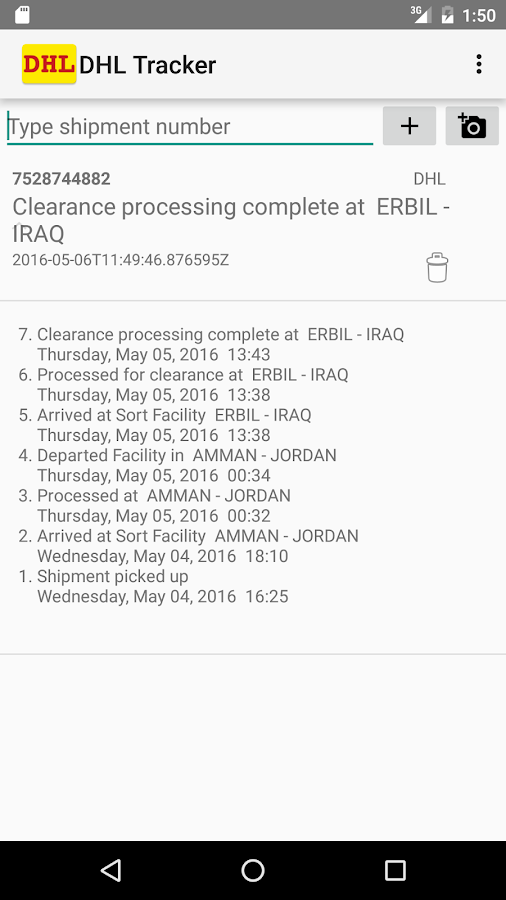 DHL Tracker Pro Screenshot 1