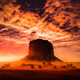 Hills & Valley's by Kyle Re - Landscapes Mountains & Hills ( sky, mountain, color, sunset, silhouette, kylerecreative, clouds, landscape )