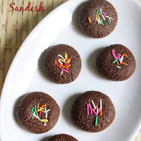 chocolate sandesh | chocolate sandesh recipe | healthy Indian sweets recipes