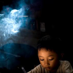 For  The Future by Prana Jagannatha - Babies & Children Children Candids ( childrem, studying )