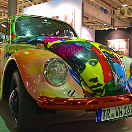 Pop Art Beetle - James F. Gill by Marco Bertamé - Transportation Automobiles ( pop art, francis, colorful, letter, 1969, art, german, kussmaul, number, galeria k, h, beetle, james, vw, w, v, 1, t, 6, r, special edition, 9, käfer, gill )