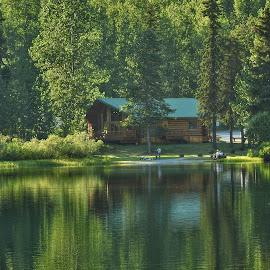 Enjoying Summer by Patricia Phillips - Landscapes Travel ( alaska lakes cabins summer )