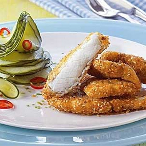 Coconut-Sesame Crusted Cod Fingers