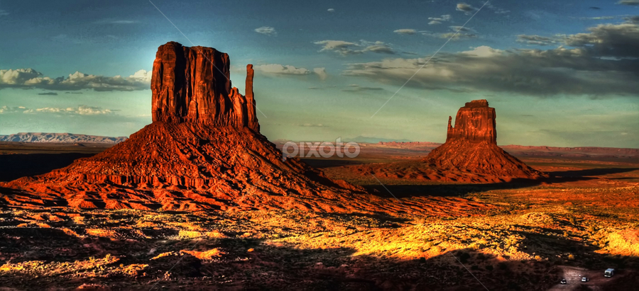 John Ford's Point by Marco Caciolli - Landscapes Deserts ( monument valley, sand, sky, desert, arizona, travel, landscapes, rocks )