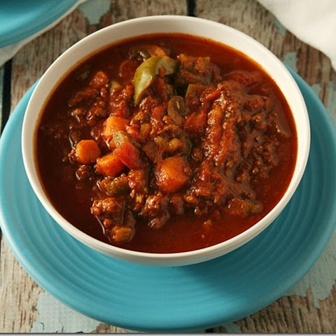 Low Carb Ground Beef and Veggie Chili