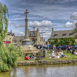 Bourton on the water  by Mark West - City,  Street & Park  Historic Districts