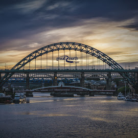 Five Bridges by Adam Lang - Buildings & Architecture Bridges & Suspended Structures ( sky, river tyne, gateshead, newcastle, bridges )
