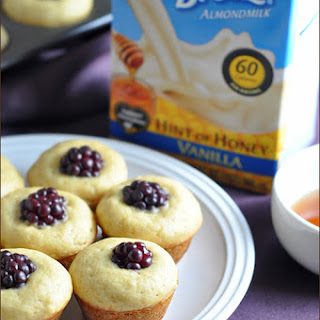 Honey Blackberry Mini Pancake Muffins