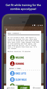 Zombies, Run! 5k Training (Free) Fitness app screenshot for Android