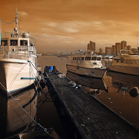 Dirty Rich by Boyet Lizardo - Transportation Boats ( infrared, 590nm, ir photography )