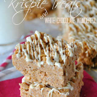 Butterscotch White Chocolate Wonderful Krispie Treats